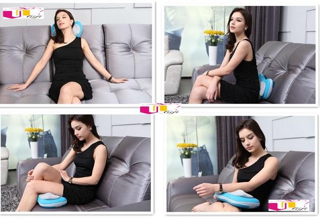 Gối massage hồng ngoại Nhật Bản giảm đau nhanh, gối mát xa 6 bi hồng ngoại mới