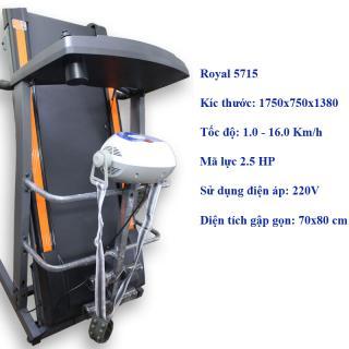 Máy chạy bộ điện đa chức năng Royal 5715